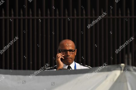 Stock Image of Assistant Commissioner Neil Basu at the police crime scene outside Parliament