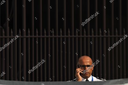 Stock Picture of Assistant Commissioner Neil Basu at the police crime scene outside Parliament