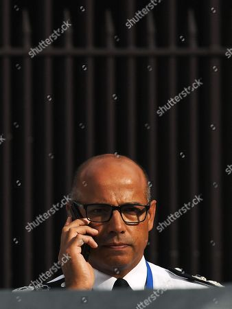 Stock Photo of Assistant Commissioner Neil Basu at the police crime scene outside Parliament