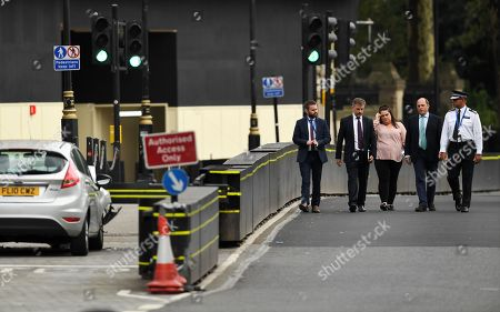Editorial photo of Car crashes into security barriers outside Houses of Parliament in London, United Kingdom - 14 Aug 2018