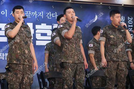 Editorial photo of Stars of musical Shinheung Military School, Seoul, Korea - 14 Aug 2018