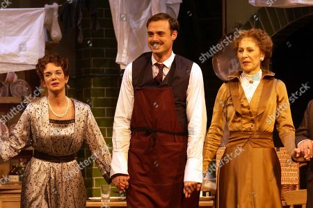 Victoria Hamilton Jamie Theakston and Jane How On Stage For Curtain Call For