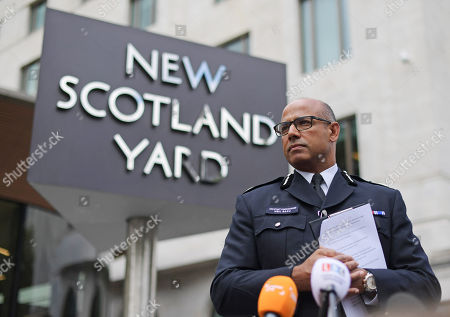 Assistant Commissioner Neil Basu during press conference updating press on the current situation in Westminster at New Scotland Yard