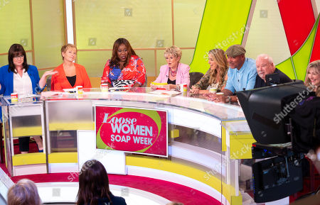 Coleen Nolan, Anne Diamond, Chizzy Akudolu and Gloria Hunniford, Claire Sweeney, Louis Emerick, Michael Starke and Sue Jenkins