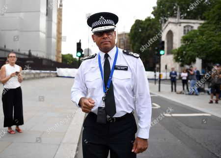 London Metropolitan Police Assistant Commissioner and the National Lead for Counter Terrorism Policing in Briktain,+ Neil Basu, at the scene of suspected terror incident outside the Houses of Parliament in Westminster, London, Britain 14 August. A number of people have been injured after a car crashed into security barriers outside the Houses of Parliament on 14 August 2018, Scotland Yard said. The driver, a man in his late 20s, was arrested at the scece. Authorities said that the incident was treated as terror related and an investigation by the counter terrorism command was underway.
