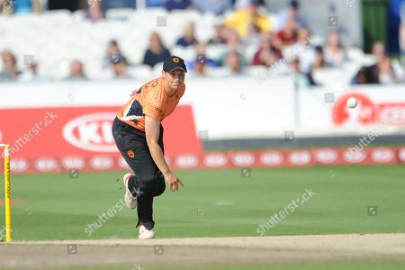 Arran Brindle of Southern Vipers bowling during the Women's Cricket Super League match between Southern Vipers and Surrey Stars at the 1st Central County Ground, Hove