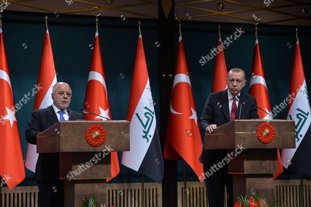 Editorial photo of Iraqi Prime Minister visits Turkey, Ankara - 14 Aug 2018