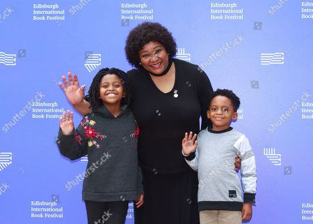 Zindzi Mandela with grandchildren Zazi & Ziwelene