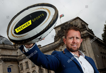 Former Wales international Shane Williams at today's launch