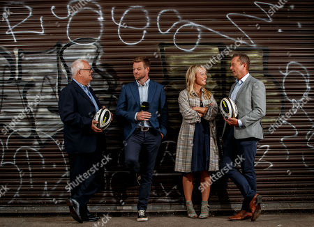 Wyn Gruffydd, Ross Harries, Lauren Jenkins, Sean Holley at today's launch