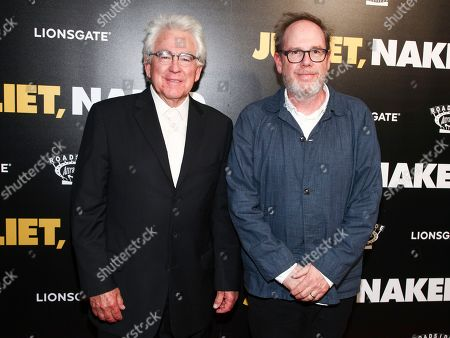 "Ron Yerxa, Albert Berger. Ron Yerxa, left, and Albert Berger, right, attend the premiere of ""Juliet, Naked"" at Metrograph, in New York"