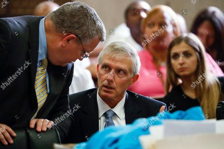Stock Picture of Brian Holmes, James Papa. Prosecutors Brian Holmes, left, and James Papa confer as Holmes questions witness Ernest Finner in the trial for the fatal shooting of Hadiya Pendleton at the Leighton Criminal Court Building in Chicago on . Defendant Micheail Ward and co-defendant Kenneth Williams are on trial for the shooting