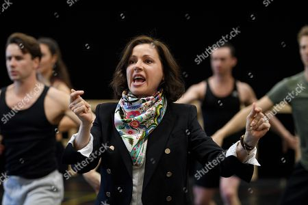 Australian singer Tina Arena performs during a rehearsal for the Opera Australia musical production of Andrew Lloyd Webber's Evita, in Sydney, Australia, 15 August 2018. Evita will play at the Sydney Opera House from 13 September, followed by a season at Arts Centre Melbourne from 05 December.