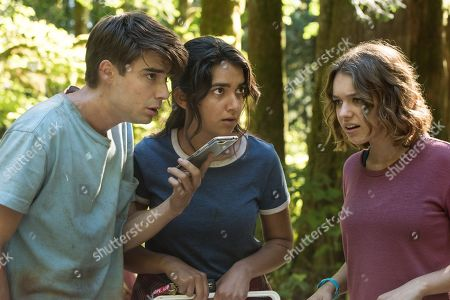 Stock Image of Daniel Doheny as Sean Floyd, Geraldine Viswanathan as Becky Abelar, Sadie Calvano as Sarah