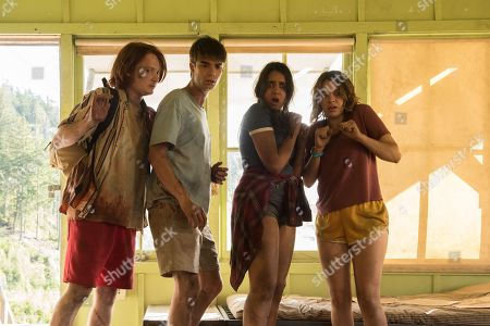 Stock Photo of Luke Spencer Roberts as Donnie, Daniel Doheny as Sean Floyd, Geraldine Viswanathan as Becky Abelar, Sadie Calvano as Sarah