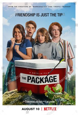 The Package (2018) Poster Art Geraldine Viswanathan as Becky Abelar, Daniel Doheny as Sean Floyd, Sadie Calvano as Sarah, Luke Spencer Roberts as Donnie