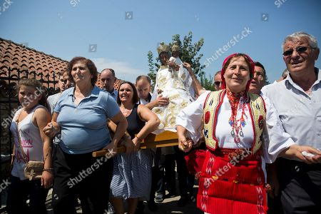 Editorial picture of Pilgrims, Letnica, Kosovo - 15 Aug 2018