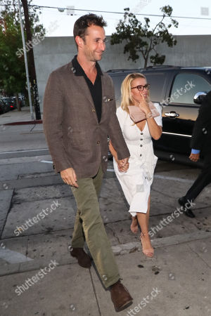 Editorial photo of Noah Wyle and Sara Wells out and about, Los Angeles, USA - 14 Aug 2018