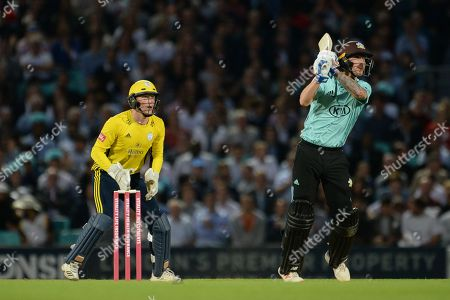 Nic Maddinson of Surrey batting during the Vitality T20 Blast South Group match between Surrey County Cricket Club and Hampshire County Cricket Club at the Kia Oval, Kennington