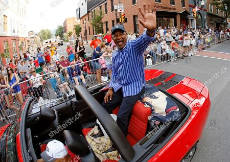 Eddie Murray. Baseball Hall of Famer Ozzie Smith rides as the Grand Marshall of the Little League Grand Slam Parade in downtown Williamsport, Pa., . The Little League World Series tournament, featuring 16 teams from around the world, starts Thursday, Aug. 16, 2018 in South Williamsport, Pa
