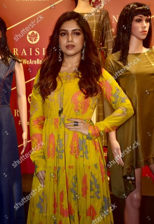 Indian film actress Bhumi Pednekar present at the brand launch of Raisin Contemporary Fusion Wear for Women AW collection?18 at hotel JW Marriott, Juhu in Mumbai.