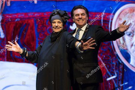 Wendy Whiteley and Lyndon Terracini