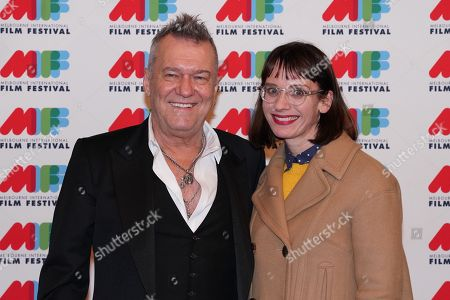 Stock Image of Australian singer Jimmy Barnes (L) and MIFF Director Michelle Carey pose for a photograph during the world premiere of Working Class Boy at the Comedy Theatre in Melbourne, Australia, 16 August 2018. Joffe's new film Working Class Boy is based on Jimmy Barnes' bestselling memoir.