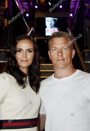 Finnish Formula One driver Kimi Raikkonen with his wife Minttu Virtanen at the publication of his biography Unknown Kimi Raikkonen