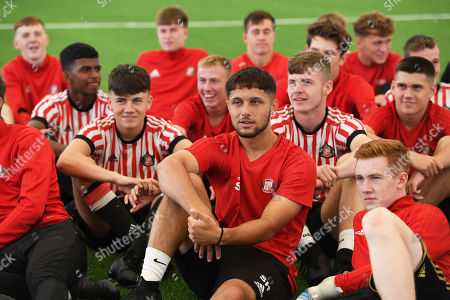 Stock Photo of Boys and girls at the Sunderland Club Community Education Scheme doing and Q&A with Tom Flanagan and Charlie Wyke of Sunderland.