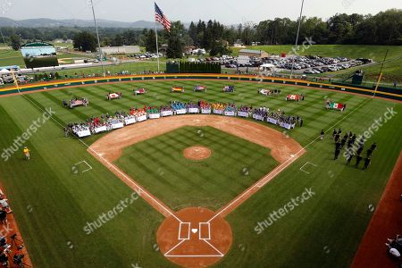 Eddie Murray. The 16 Little League teams competing in the 2018 Little League World Series baseball tournament line the field at Volunteer Stadium during the opening ceremony in South Williamsport, Pa