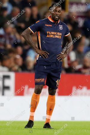 Emmanuel Adebayor of Istanbul Basaksehir looks dejected