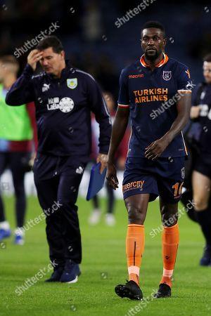 Emmanuel Adebayor of Istanbul Basaksehir looks dejected at the end of the match