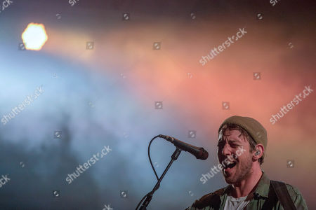 Lead singer of US band Fleet Foxes, Robin Pecknold, performs at 'Paredes de Coura' music festival, in Paredes de Coura, northern Portugal, 16 August 2018. The festival continues until 18 August.