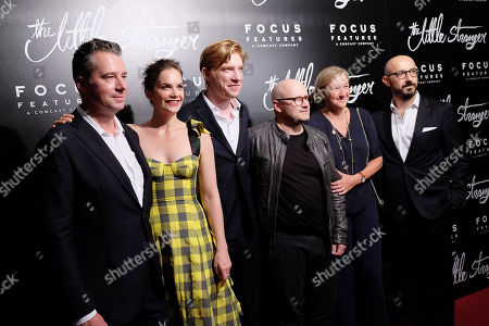 Robert Walak (Pres; Focus Features), Ruth Wilson, Domhnall Gleeson, Lenny Abrahamson (Director), Gail Egan and Peter Kujawski (Chairman; Focus Features)