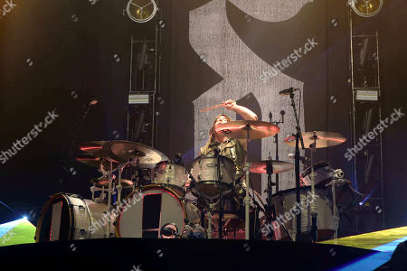 Barry Kerch with Shinedown performs as the opener for Godsmack at Cellairis Amphitheatre at Lakewood, in Atlanta