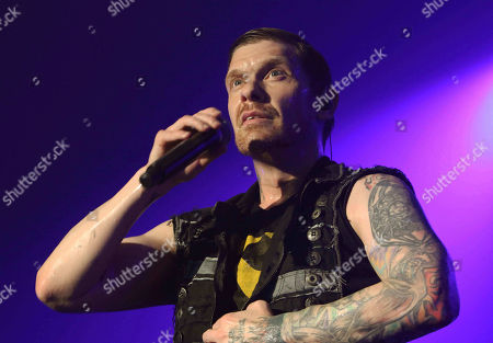 Brent Smith with Shinedown performs as the opener for Godsmack at Cellairis Amphitheatre at Lakewood, in Atlanta
