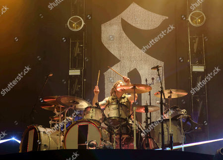 Stock Photo of Barry Kerch with Shinedown performs as the opener for Godsmack at Cellairis Amphitheatre at Lakewood, in Atlanta