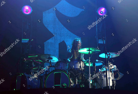 Stock Picture of Barry Kerch with Shinedown performs as the opener for Godsmack at Cellairis Amphitheatre at Lakewood, in Atlanta