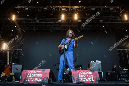 Stock Picture of US musician Kevin Morby performs on stage at 'Paredes de Coura' music festival, in Paredes de Coura, north of Portugal, 17 August 2018. The festival runs until 18 August.