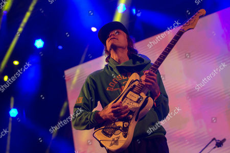 Stock Picture of US musician Andrew Bailey from rock band DIIV performs on stage at 'Paredes de Coura' music festival, in Paredes de Coura, north of Portugal, 17 August 2018. The festival runs until 18 August.
