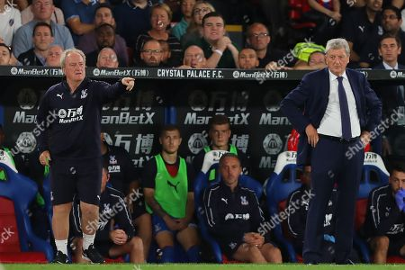 Manager of Crystal Palace, Roy Hodgson (right) and Assistant Manager, Ray Lewington - Crystal Palace v Liverpool, Premier League, Selhurst Park, London (Selhurst) - 20th August 2018
