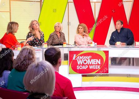 Kaye Adams, Penny Lancaster, Jane Moore, Nadia Sawalha and Nigel Pivaro