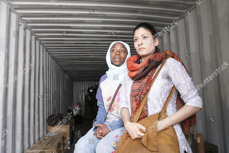 Stock Picture of 'The Container' - Mercy Ojelade (Asha), Amber Agar (Mariam)