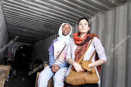 Stock Photo of 'The Container' - Mercy Ojelade (Asha), Amber Agar (Mariam)
