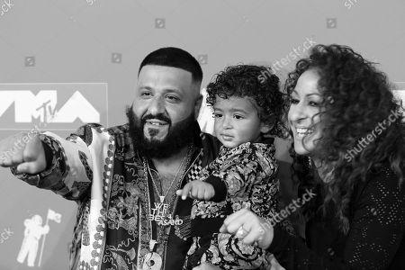 DJ Khaled, Asahd Khaled and Nicole Tuck