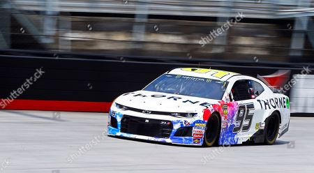 Stock Image of Kasey Kahne makes his way around the track during practice for a NASCAR Cup Series auto race, in Bristol, Tenn