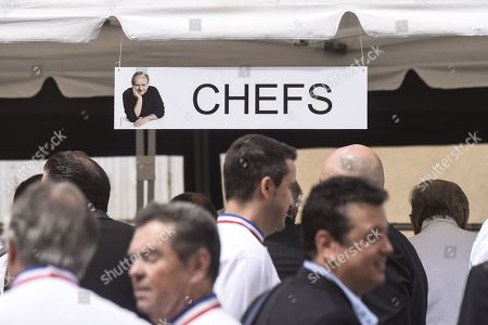 Ceremony of tribute to the famous star chef Joel Robuchon at Saint-Pierre Cathedral in Poitiers