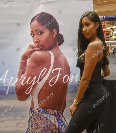 Dr. Dre's Alleged New Girlfriend, Apryl Jones, Outed By Love & Hip Hop Star.Las Vegas NV - August 17:  :Apryl Jones, 2018 Boxing Hall of Fame meet and greet at Augustus Ballroom at Caesars Palace in Las Vegas, Nevada on August 17, 2018.