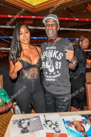 Stock Photo of Apryl Jones and Michael Spinks