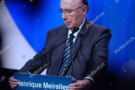 Henrique Meirelles, candidate of the official party Brazilian Democratic Movement (MDB), participates in the second televised debate among the candidates for the 2018 Brazilian elections in Sao Paulo, Brazil, 17 August 2018. The Brazilian Presidential elections are scheduled for 07 October 2018.